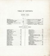 Table of Contents, Edgar County 1910