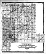 Fayette County Outline Map, Fayette County 1915