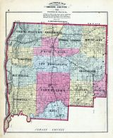 Sectional County Map, Greene County 1873