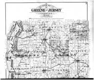Greene and Jersey Counties Outline Map - Above, Greene and Jersey Counties 1893