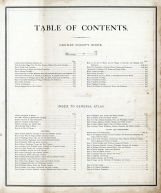 Table of Contents, Grundy County 1874
