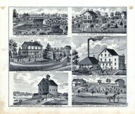 M. Underwood Farm Residence, S.L. Andrews, J.A. Sawyer, White Cloud Mills, Cleveland Mills, Stokes, White