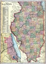 Illinois State Map, Henry County 1911