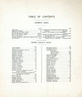Table of Contents, Henry County 1911