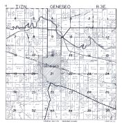 Geneseo Township, Green River, Mississippe Canal, Henry County 1950