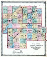 Fayette, Effingham, Clay and Marion Counties Map, Illinois State Atlas 1875