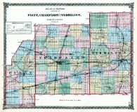 Piatt, Champaign and Vermilion Counties Map, Illinois State Atlas 1875