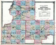 Whiteside, Henry and Bureau Counties Map, Illinois State Atlas 1875