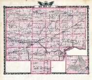Bureau County Map, Henry, Illinois State Atlas 1876