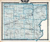 Clark County Map, Illinois State Atlas 1876