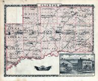 Clinton County Map, R.H.Cooke - Residence