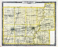 Coles County Map, Illinois State Atlas 1876