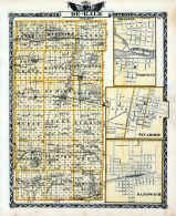 De-Kalb County Map, Bristol, Yorkville, Sycamore, Sandwich, Illinois State Atlas 1876