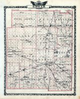 Edgar County Map, Illinois State Atlas 1876