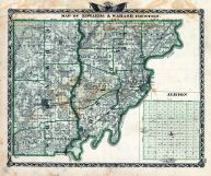 Edwards and Wabash Counties, Albion, Illinois State Atlas 1876