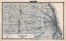 Kane County Map, Du Page County Map, Nearly All of Cook County Map, Illinois State Atlas 1876