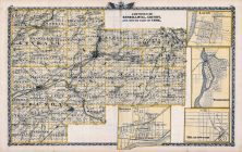 Kendall County Map, Grundy County Map, South Part of Cook County Map, Lacon, Wilmington, Morris, Braidwood, Illinois State Atlas 1876