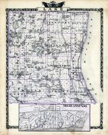 Lake County Map, Highland Park, Illinois State Atlas 1876