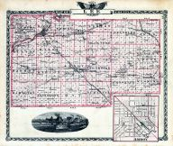 Lee County Map, Amboy, Illinois State Atlas 1876