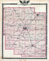 Logan County Map, Illinois State Atlas 1876