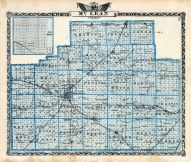 McLean County Map, Illinois State Atlas 1876