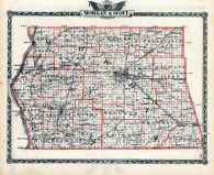 Morgan County Map, Scott County Map, Illinois State Atlas 1876