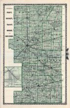 Platt, Dewitt, Macon, Shelby and Moultrie Counties Map, Farmer City, Illinois State Atlas 1876
