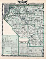 St. Clair County Map, Lebanon, Carlyle, Illinois State Atlas 1876