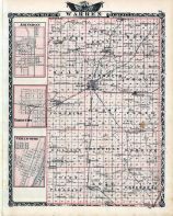 Warren County Map, Abingdon, Yates City, Chillicothe, Illinois State Atlas 1876