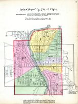 Index Map - Elgin City, Kane County 1892