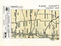 Kane County Highway Map, Kane County 1954c
