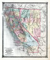 County Map of California and Nevada, La Salle County 1876
