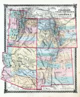 County Map of Colorado, Utah, New Mexico, and Arizona, La Salle County 1876