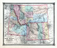 County Map of Idaho, Montana and Wyoming, La Salle County 1876