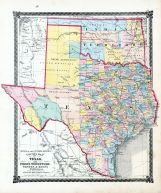 County Map of Texas, and Indian Territory, La Salle County 1876