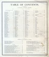 Table of Contents, La Salle County 1876