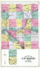 County Outline Map, La Salle County 1892