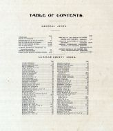 Table of Contents, La Salle County 1906