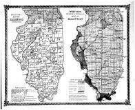 Political Map of Illinois, Worthens Geological & Climate Map of Illinois, Logan County 1873