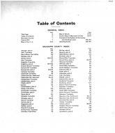 Table of Contents, Macoupin County 1911
