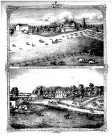 Barnback Stock and Grain Farm Bird's Eye View, Anderson Stock Farm Residence, Madison County 1873 Microfilm