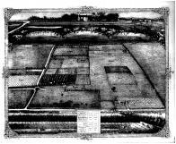 Oliver Hoyts Grain Farm Bird's Eye View, Madison County 1873 Microfilm