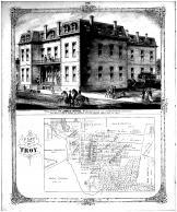 St James Hotel, Plat of Troy, Madison County 1873 Microfilm