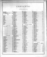 Table of Contents, Madison County 1873 Microfilm