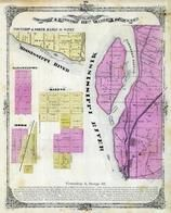 Township 3 and 4  North, Range 10 West, Mississippi River, Sabastapol. Saline, Moro, Madison County 1873