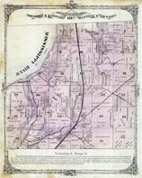 Township 4 North, Range 9 West, Mississippi River, Long Lake, Chouteau Slough, Madison County 1873