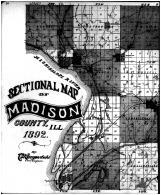 County Map - Left, Madison County 1892 Microfilm
