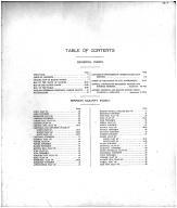 Table of Contents, Marion County 1915