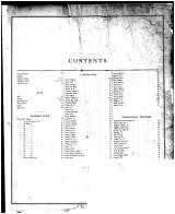 Table of Contents, Mason County 1874