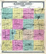 Outline County Map, McDonough County 1913